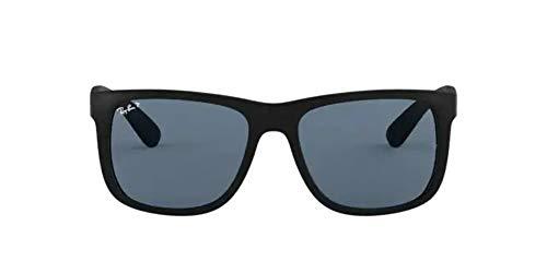 Óculos De Sol Ray Ban Justin L Rb4165L 622 2V/55 Preto Polarizado