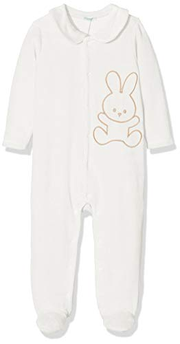 Undercolors of Benetton Undercolors of Benetton Baby-Jungen Lutk Basic 1 Playsuit, Beige (Panna 074), 80/86 (Herstellergröße: 82)