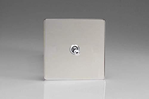 Varilight - Interruptor de palanca clásico 1G 1 o 2W 10A Dimensión sin tornillos Cromo - XDCT1S