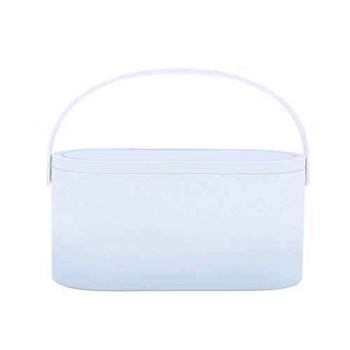 Zoloyo Caja organizadora de maquillaje, organizador de maquillaje portátil para el cuidado de la piel, organizador para maquillaje con espejo LED anillo de luz para viajes