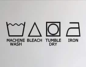 Wasmachine Wasmachine Symbolen - Vinyl Muursticker Glans Donker Roze
