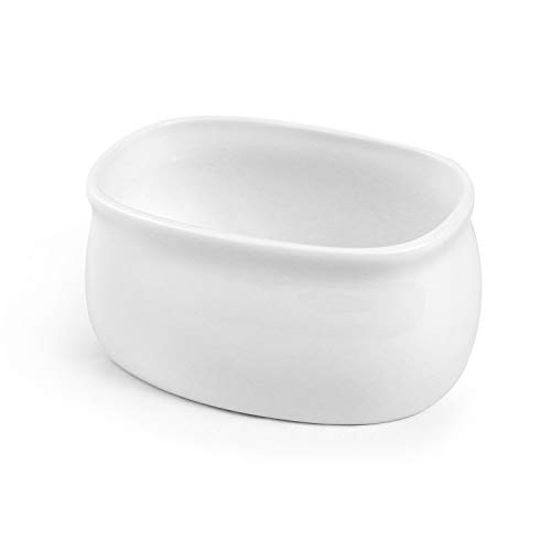 QWORK Zuccheriera Porcellana Saliera Saliera Saliera in Ceramica Zucchero Portacandela Bianco