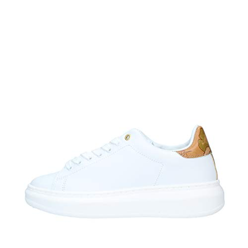 ALVIERO Martini Donna Sneakers In Pelle Liscia Bianco Mod. P411 578A 35