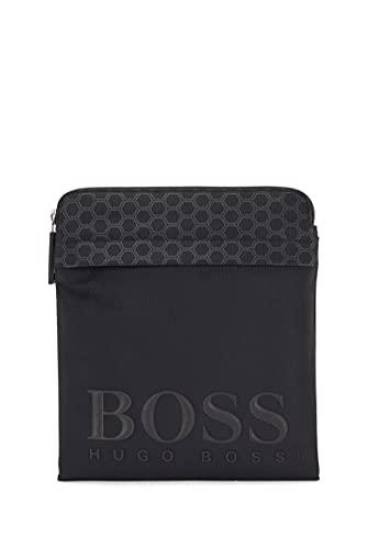 BOSS ONESI Hegon_S - Bolsa cruzada con cremallera para hombre, color negro