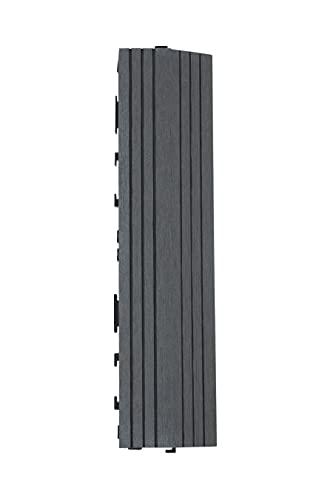 Decko - Azulejos de madera compuesta (30 x 7 cm), color gris