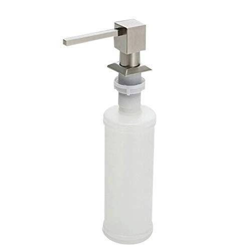 DOITOOL 1 Pieza Dispensador de Jabón líquido para Fregadero de Cocina Dispensador jabon Cocina bajo encimera Dispensadores de loción y de jabón para baño (Cabeza Cuadrada)