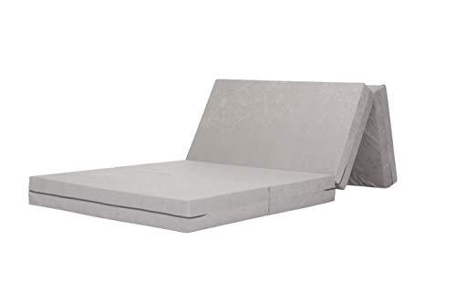 Gigapur 29043 Klappmatratze für Erwachsene in Komfortgröße 90x200cm, bis 100kg belastbar, inklusive Schutz- und Transporthülle