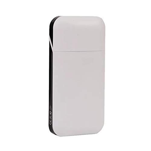 10-20 Zigarette weibliche dünne Zigarettenetui automatische Abdeckung USB wiederaufladbare Leichter Tabak Fall tragbare Raucher-Gadgets, weiß