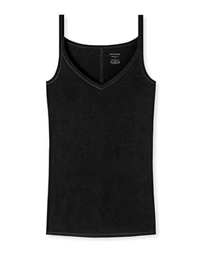 Schiesser Personal Fit - Camiseta para espaguetis (2 unidades) Negro XXXL