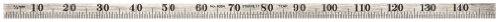 Starrett 635150Spring aus gehärtetem Stahl schmal Regel mit Millimeter Skala, 150mm Länge, 4,8mm Breite, 1,2mm Stärke