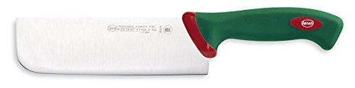 Sanelli Premana Professional Coltello Nakiri, Acciaio Inossidabile, Verde/Rosso, 31.5x3.0x6.0 cm