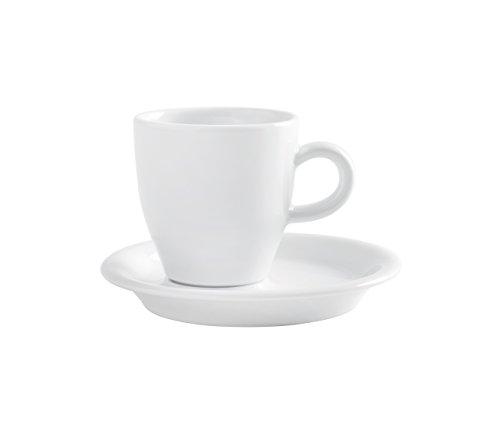 Kahla Espresso Doppio-Tassen und Untertassen,Porzellan, Weiß, 2 Stück