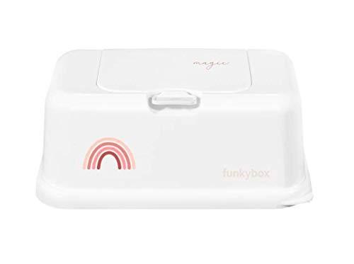 funkybox FB50 Feuchttücher Aufbewahrungsbox rosa Regenbogen weiß