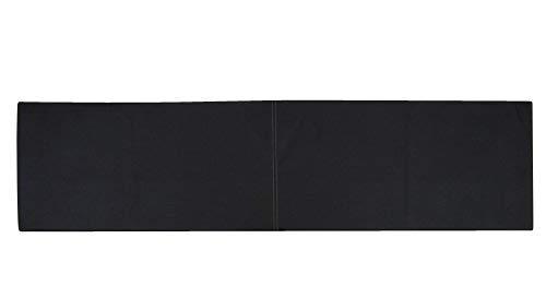 animal-design XXL Wandkissen mit Montage-Set 150cm x 30cm passend zu Klemmkissen versch. Farben, Farbe:schwarz