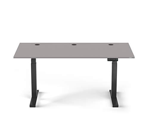 Spetral - Escritorio eléctrico (altura regulable, 180 x 80 cm), color gris y negro