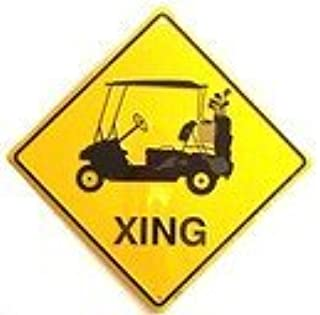 XING SIGNS Golf Cart (Crossing Sign)