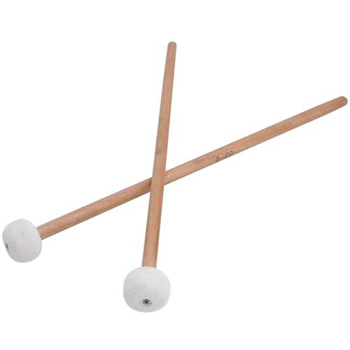 SALALIS Accesorios para Instrumentos Musicales, Juego de mazos de Tambor, Cabezal de Fieltro Suave, Mango de Madera, mazo de Tambor Estable para Instrumentos Musicales, Accesorios para Caja para