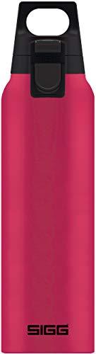 SIGG Hot & Cold ONE Bouteille isotherme Magenta (0.5 L), Gourde isolante sans substances nocives, Petite bouteille en acier inoxydable utilisable d'une seule main