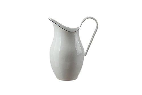 Münder-Emaille - Wasserkanne - Wasserkaraffe - Weiß - 2,5 l