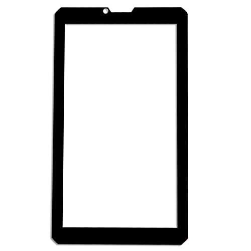 para 7 'Pulgadas BQ 7098G Armor Power/T Tablet Tablet Pantalla táctil Externa Mid Digitalizador de Vidrio Sensor de Panel de Vidrio Reemplazo (Color : Black)