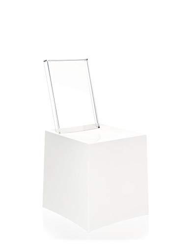 Kartell Miss Less Sedia, Bianco (Bianco/Trasparente), 42 x 85 x...