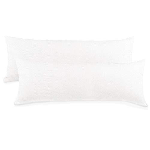 CelinaTex BeNature Kissenbezug Doppelpack 40 x 200 cm XXL weiß Baumwolle Seitenschläferkissen Bezug Jersey