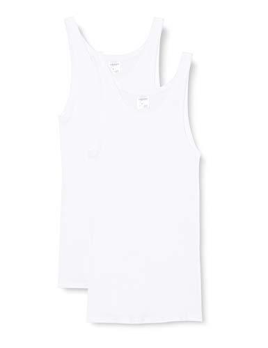 Schiesser Essentials Cotton Doppelripp Unterhemd im Doppelpack Herren