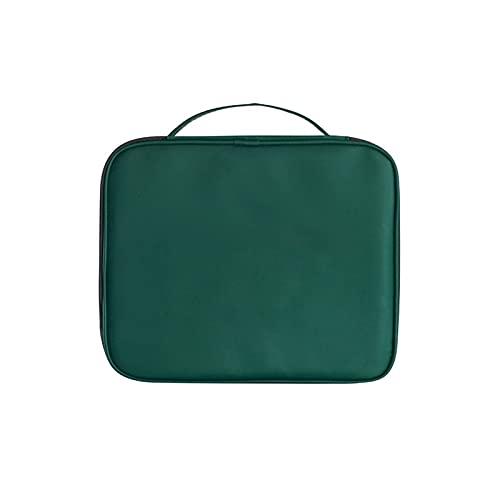 KJCHEN Bolsa de Almacenamiento de Viaje de Caja de cosmética Paquete de alimentación de Mano Conveniente Bolsa de cosméticos Viaje en casa (Color : Green)
