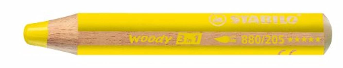 Stabilo Woody 3 in 1, Yellow