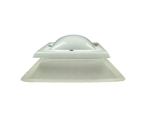 IRONLUX Claraboya Techo Cuadrada Fija Anti-Condensación, 80 x 80 cm