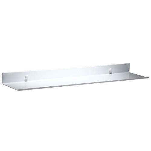 Tmpty Wandregal Badezimmer Weiß Regal,Rechteck Badregal,Weltraumaluminium Anodische Oxidation,Leicht zu Reinigen (größe : 50 cm)