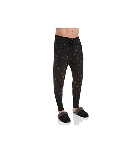 Ralph Lauren Männer Knit Jogger Lounge Pant Polo Black Mittel