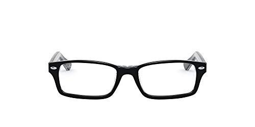 Ray-Ban Junior Kids' RY1530 Rectangular Prescription Eyeglass Frames, Black On Transparent/Demo Lens, 48 mm