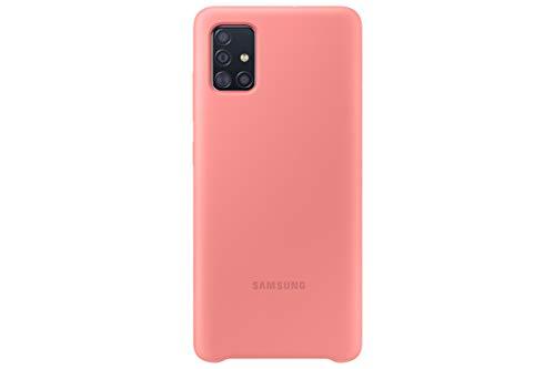 Samsung Silicone Smartphone Cover EF-PA515 für Galaxy A51 Handy-Hülle, Silikon, Schutz Hülle, stoßfest, dünn & griffig, pink