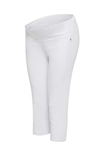 ESPRIT Maternity Damen Legging Capri Umstandsleggings, Weiß (White 100), 42 (Herstellergröße: XL/XX-Large)