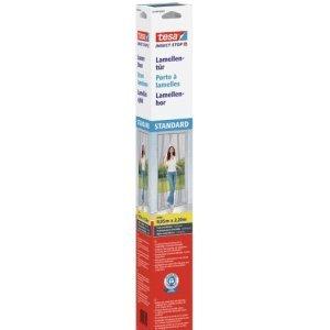 tesa 4 x Fliegengitter Lamellentür Insect Stop Standard 0,95x2,20m weiß