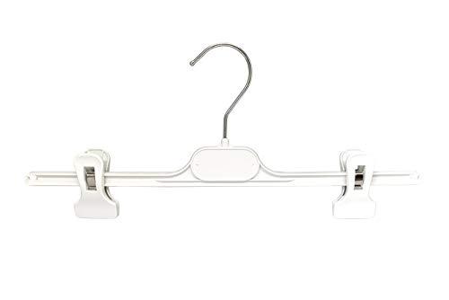 Kiroplast broekbeugel voor broeken, kraag, ruimtebesparend, kunststof tang, clips, golven, 36 cm