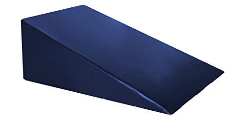 Vinyl Foam Wedge Support Pillow, Acid Reflux Therapeutic Foam Back and Legs Medical Quality Anti Bacteria Bed Wedge (24