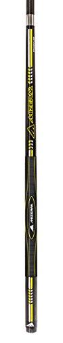 Mizerak 58' 2-Piece Black Premium Carbon Composite 3D Grip Cue with Straight Line Technology