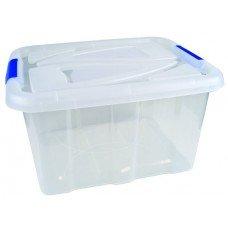 Lagerbox Aufbewahrungsbox Stapelbox mit Deckel ca. 30 Liter, LxBxH 49x39x26