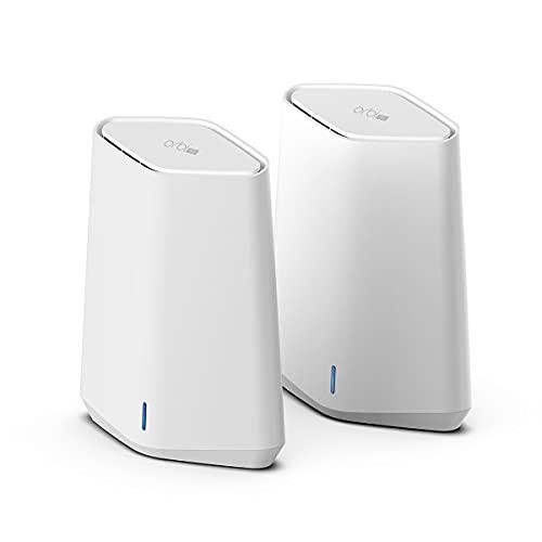 NETGEAR OrbiPro SXK30 WiFi6 Mini AX1800 WLAN Mesh System (Wifi 6 Router + 1Mesh Satellit für Büro oder zu Hause, WLAN Abdeckung bis zu 250m² und 40Geräte, Geschwindigkeit bis 1,8GBit/s)