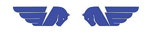 2 Aufkleber Aufkleber Buell Tank Blau
