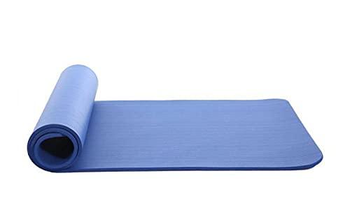 FGJFG Esterilla de gimnasia ecológica antideslizante clásica Pro Fitness Mat ecológica/esterilla de yoga respetuosa con el medio ambiente, azul 183 x 61 x 1 cm, ideal para pilates, yoga