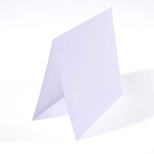 Vaessen Creative Blanko Faltkarten quadratisch Groß Weiß, 25 Stück, passende Briefumschläge Erhältlich