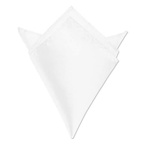 Autiga ® Einstecktuch Kavalierstuch Tuch Taschentuch Polyester Business Hochzeit weiß
