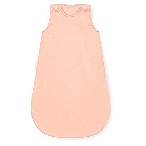 Sleeping Rebels® Saco de dormir para bebé de algodón orgánico, para todo el año, 2,5 tog, calidad premium (estrellas de melocotón, 62/68)