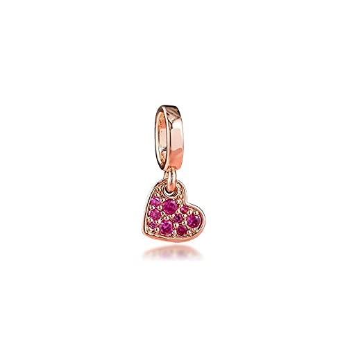 Fit Pandora Bracciali Red Pave Cuore Inclinato Charms Perline In Argento Sterling Originali Per La Creazione Di Gioielli Fai Da Te Abbigliamento Donna Ti Rende Affascinante