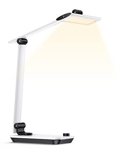 スタンドライト TaoTronics LED電気スタンド 照明範囲調節 太陽光950LM 高演色LEDデスクライト 目に優しい 無段階調光調色 入学 USBポート付け 記憶機能 卓上ライト 勉強 仕事 設計 家庭用 オフィス用 TT-DL092