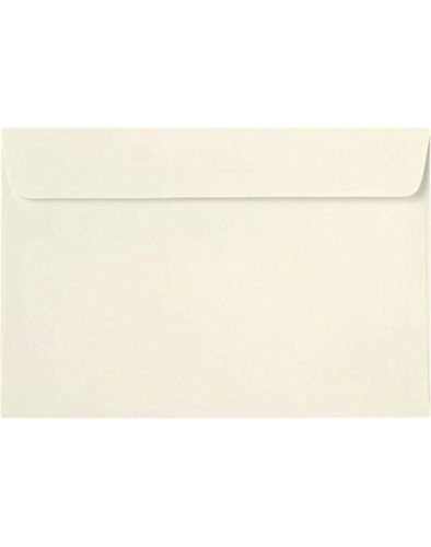 6 x 9 Booklet Envelopes in 70 lb. Natural for Mailing a Business Letter, Catalog, Financial Document, Magazine, Pamphlet, 50 Pack (Off-White) 50 Off Gift Certificates