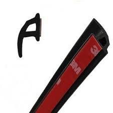 Universele rubberen afdichting, P-vorm, voor deur, ramen, sierlijst, decoratie, 60', zwart, 1